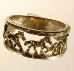 Three horses in wedding ring