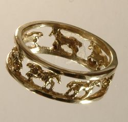 galloping horse wedding rings