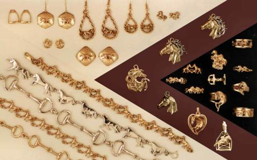 Call or email us for our catalogue of our line of horse and equestrian jewelry. 1-800-567-5113.