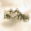 a horse ring with a heart center